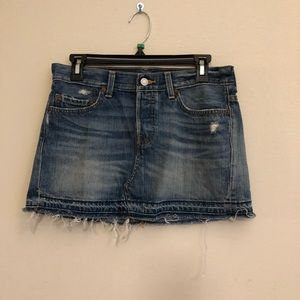 Levi's | Distressed Mini Jean Skirt
